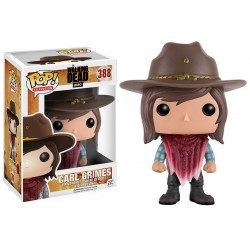 Carl Grimes Funko Pop Television The Walking Dead Carl Grimes Saison 6 Avec Chapeau de Sheriff 388