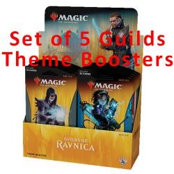 Theme Boosters : Lot des 5 Guildes de Ravnica (EN)