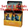 Theme Boosters : Lot des 5 Guildes de Ravnica (EN)