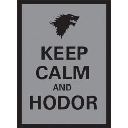 Legion Matte Sleeves : Keep Calm and Hodor (X50)