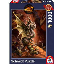 Puzzle Desert Dragon : Age of Dragons by Anne Stoke - 1000 pcs