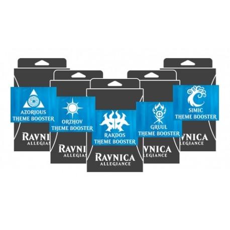 Theme Boosters : L'allégeance de Ravnica lot des 5 Guildes (EN)
