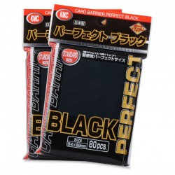 KMC Sleeves : Perfect Black (x80)