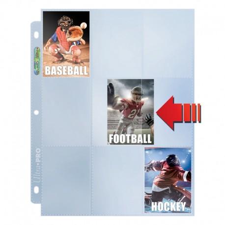 Feuilles de Classeur 9 cases Platinum Pages Chargement latéral (Side Load) (3 Trous) Ultra PRO (x100)