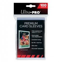 Ultra Pro Premium Platinum Card Sleeves - Clear (x100)
