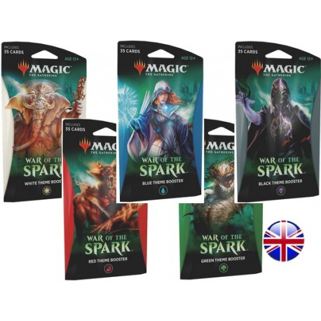 Set of 5 Theme Boosters : War of the Spark (EN)