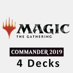 2019 Commander Decks - Lot de 4 Decks