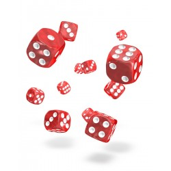 Oakie Doakie Dice 36D6 12mm - Marble - Red