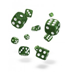 Oakie Doakie Dice 36D6 12mm - Marble - Green