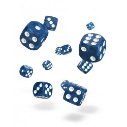 Oakie Doakie Dice 36D6 12mm - Marble - Blue