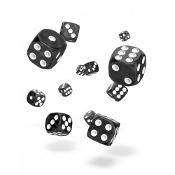 Oakie Doakie Dice 36D6 12mm - Marble - Black