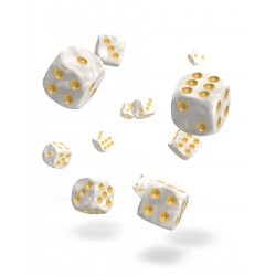 Oakie Doakie Dice 36D6 12mm - Marble - White