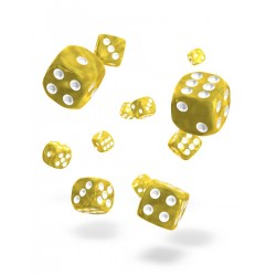 Oakie Doakie Dice 36D6 12mm - Marble - Yellow