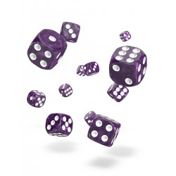 Oakie Doakie Dice 36D6 12mm - Marble - Purple