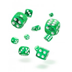 Oakie Doakie Dice 36D6 12mm - Translucent - Green