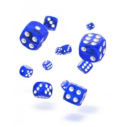 Oakie Doakie Dice 36D6 12mm - Translucent - Blue