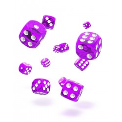 Oakie Doakie Dice 36D6 12mm - Translucent - Purple