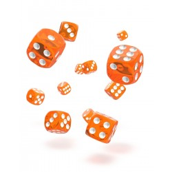 Oakie Doakie Dice 36D6 12mm - Translucent - Orange
