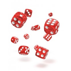 Oakie Doakie Dice 36D6 12mm - Speckled - Red