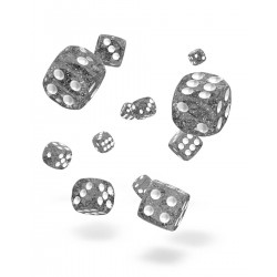 Oakie Doakie Dice 36D6 12mm - Speckled - Black