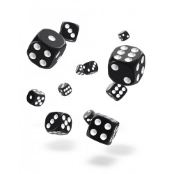 Oakie Doakie Dice 36D6 12mm - Solid - Black