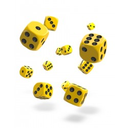 Oakie Doakie Dice 36D6 12mm - Solid - Yellow