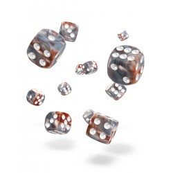 Oakie Doakie Dice 36D6 12mm - Gemidice - Silver Rust