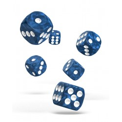 Oakie Doakie Dice 12D6 16mm - Marble - Blue
