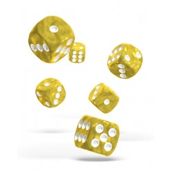 Oakie Doakie Dice - 12D6 - 16mm - Marble - Yellow