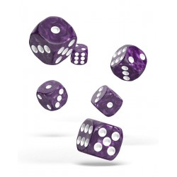 Oakie Doakie Dice - 12D6 - 16mm - Marble - Purple