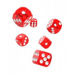 Oakie Doakie Dice dés 12D6 16mm - Translucent - Rouge