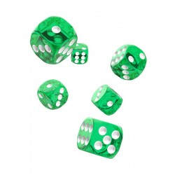 Oakie Doakie Dice 12D6 16mm - Translucent - Green