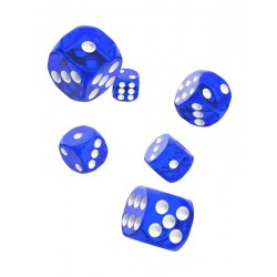 Oakie Doakie Dice dés 12D6 16mm - Translucent - Bleu