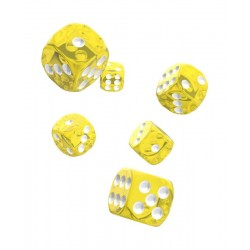 Oakie Doakie Dice dés 12D6 16mm - Translucent - Jaune