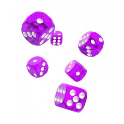 Oakie Doakie Dice dés 12D6 16mm - Translucent - Violet