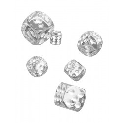 Oakie Doakie Dice - 12D6 - 16mm - Translucent - Clear