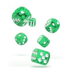 Oakie Doakie Dice 12D6 16mm - Speckled - Green