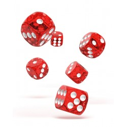Oakie Doakie Dice 12D6 16mm - Speckled - Red