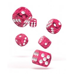 Oakie Doakie Dice 12D6 16mm - Speckled - Pink