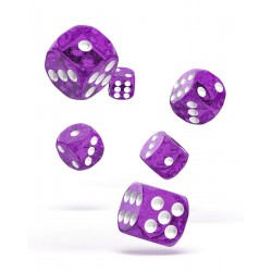Oakie Doakie Dice dés 12D6 16mm - Speckled - Violet