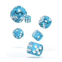 Oakie Doakie Dice - 12D6 - 16mm - Speckled - Light Blue