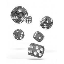 Oakie Doakie Dice - 12D6 - 16mm - Speckled - Black