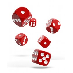Oakie Doakie Dice dés 12D6 16mm - Solid - Rouge