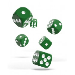 Oakie Doakie Dice 12D6 16mm - Solid - Green