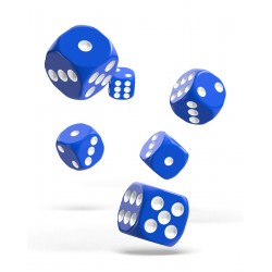 Oakie Doakie Dice dés 12D6 16mm - Solid - Bleu