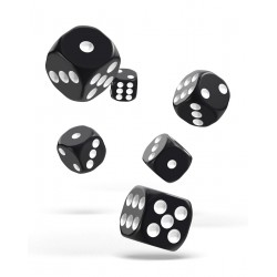 Oakie Doakie Dice dés 12D6 16mm - Solid - Noir