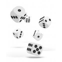 Oakie Doakie Dice dés 12D6 16mm - Solid - Blanc