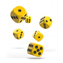 Oakie Doakie Dice - 12D6 - 16mm - Solid - Yellow