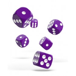Oakie Doakie Dice - 12D6 - 16mm - Solid - Purple