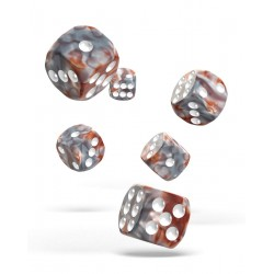 Oakie Doakie Dice 12D6 16mm - Gemidice - Silver Rust